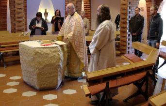 Pravoslavná liturgie v kapli Sv. Ducha