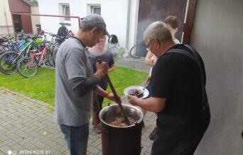Smažení vaječiny se sborem