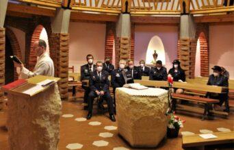 Hasiči v kapli Ducha Sv.
